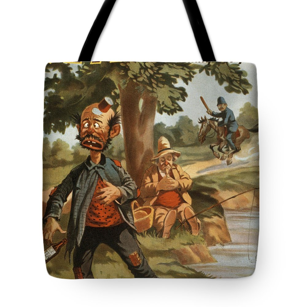 Entertainment Tote Bag featuring the drawing Help I Am Poisend It Is Tea by Aged Pixel