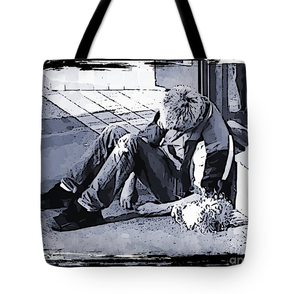 City Tote Bag featuring the photograph Help Is Not On The Way by John Malone