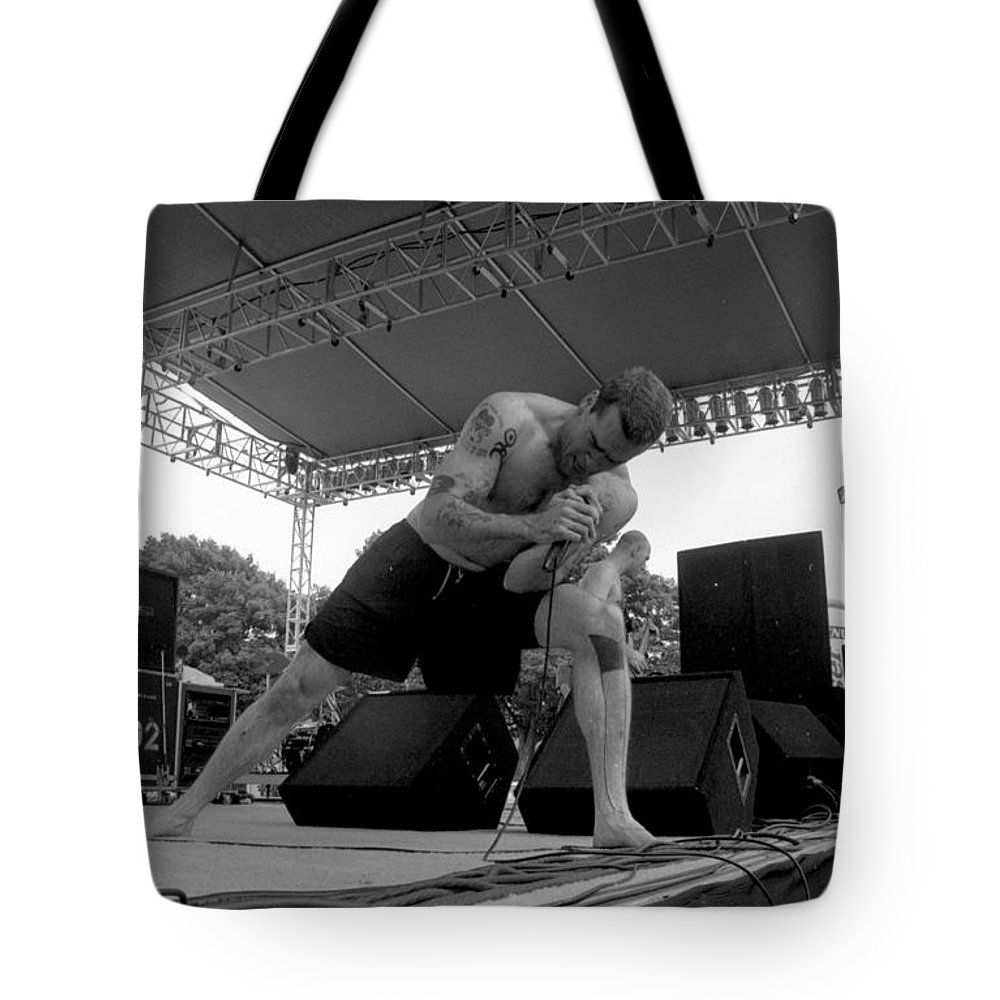 Henry Rollins Tote Bag featuring the photograph Henryrollins-gp12 by Timothy Bischoff