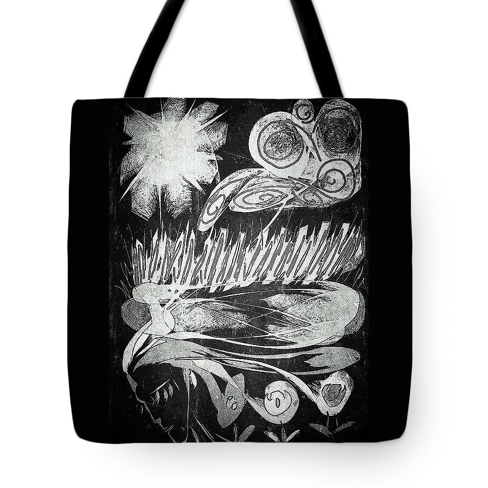 Digital Art Tote Bag featuring the digital art Mother Nature by Pamela Blayney