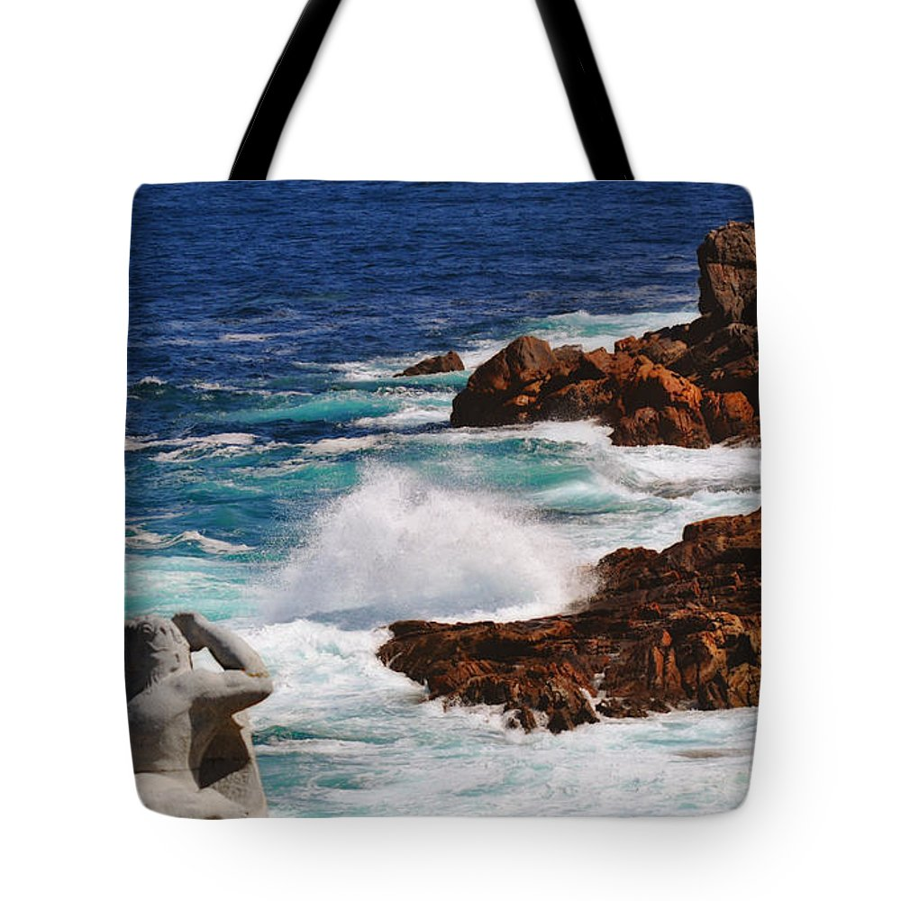 Hercules On The Argonauts Ship Tote Bag featuring the photograph Hercules On The Argonauts Ship by Mary Machare