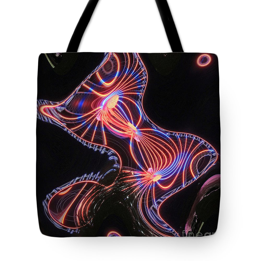Digital Art Tote Bag featuring the photograph Here Kitty by Marian Bell