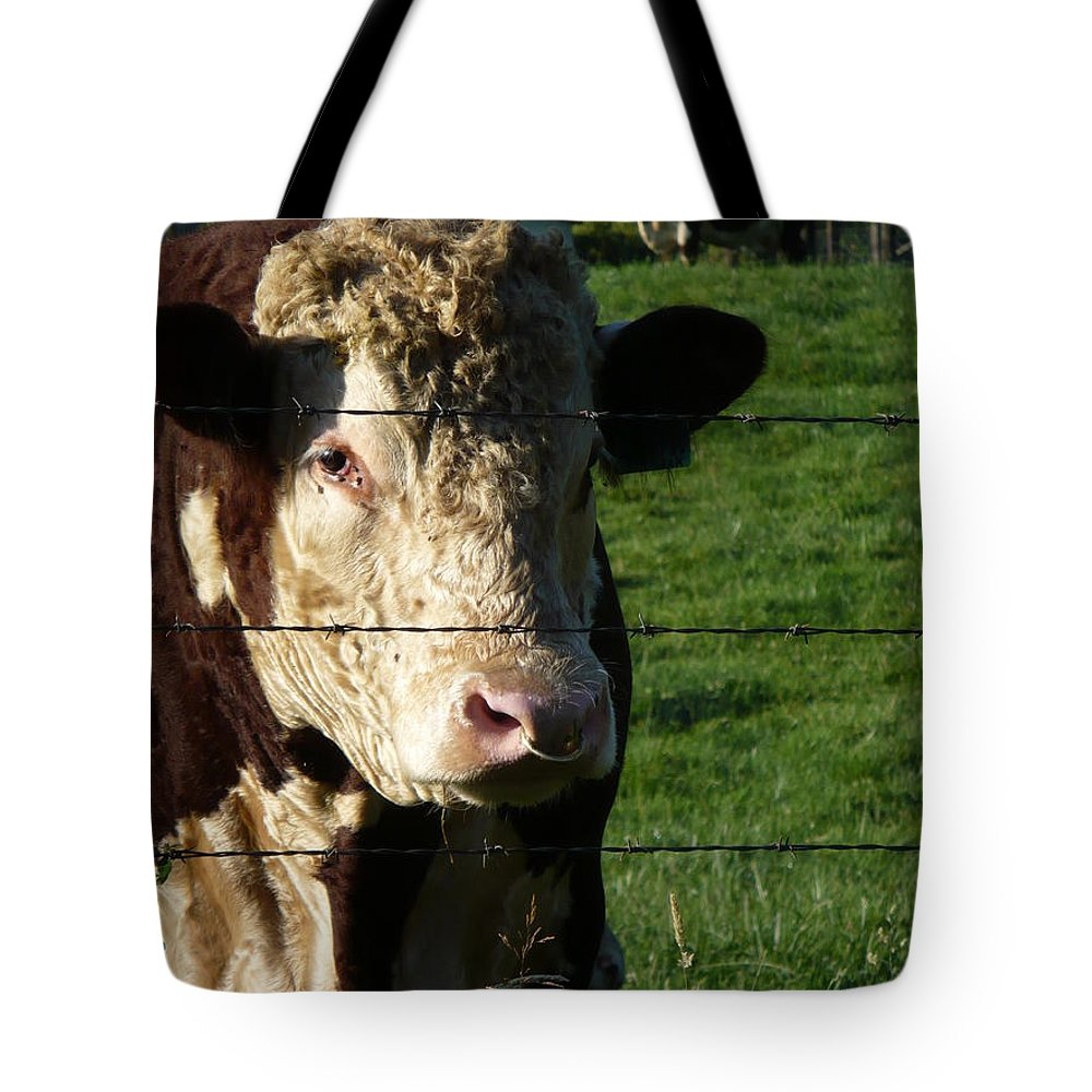 Hereford Tote Bag featuring the photograph Hereford by Nicki Bennett