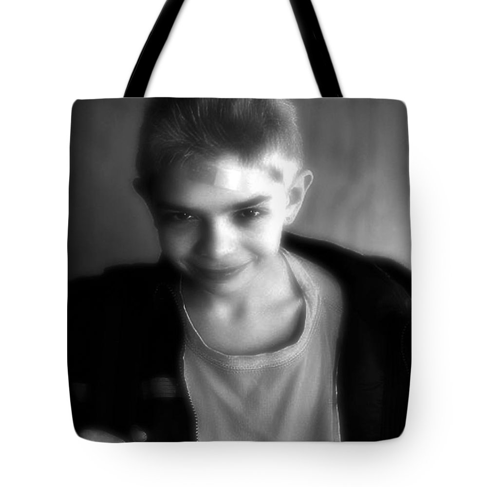 Portrait Tote Bag featuring the photograph Here's Looking At You Kid by RC DeWinter