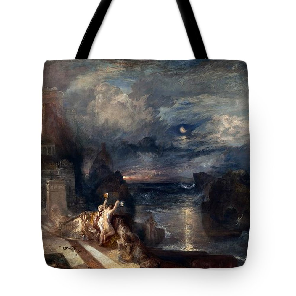 1837 Tote Bag featuring the painting Hero And Leander's Farewell by JMW Turner