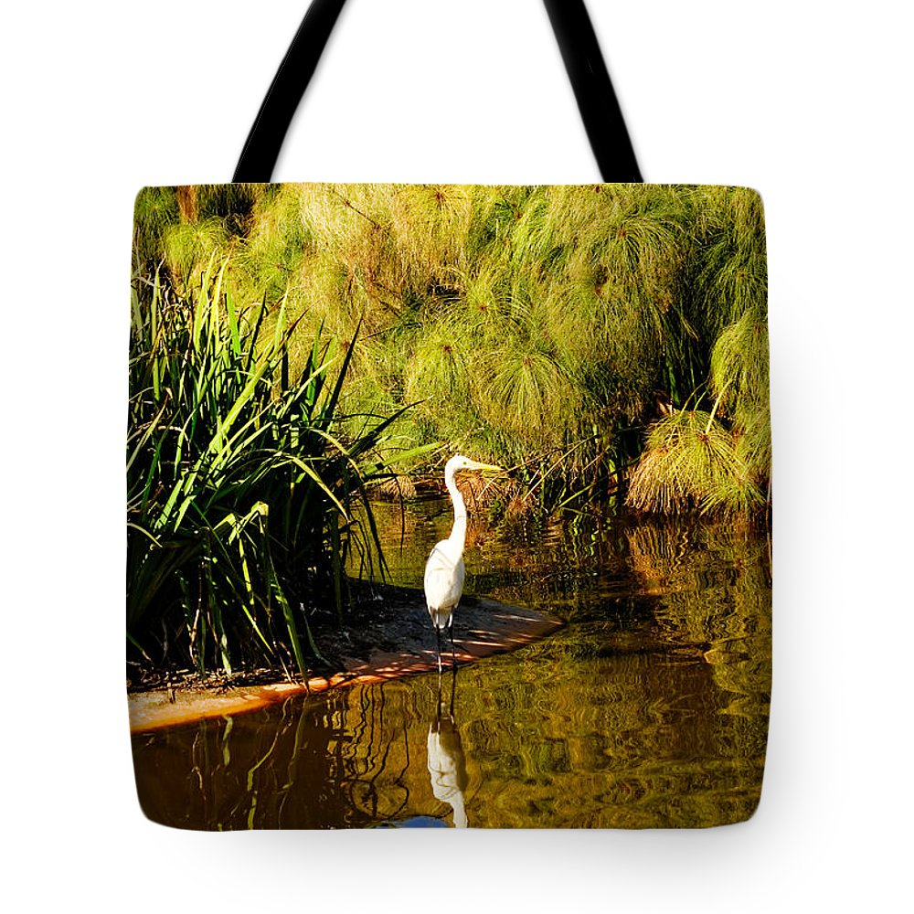 Herron Tote Bag featuring the photograph Herron by Diana Hughes