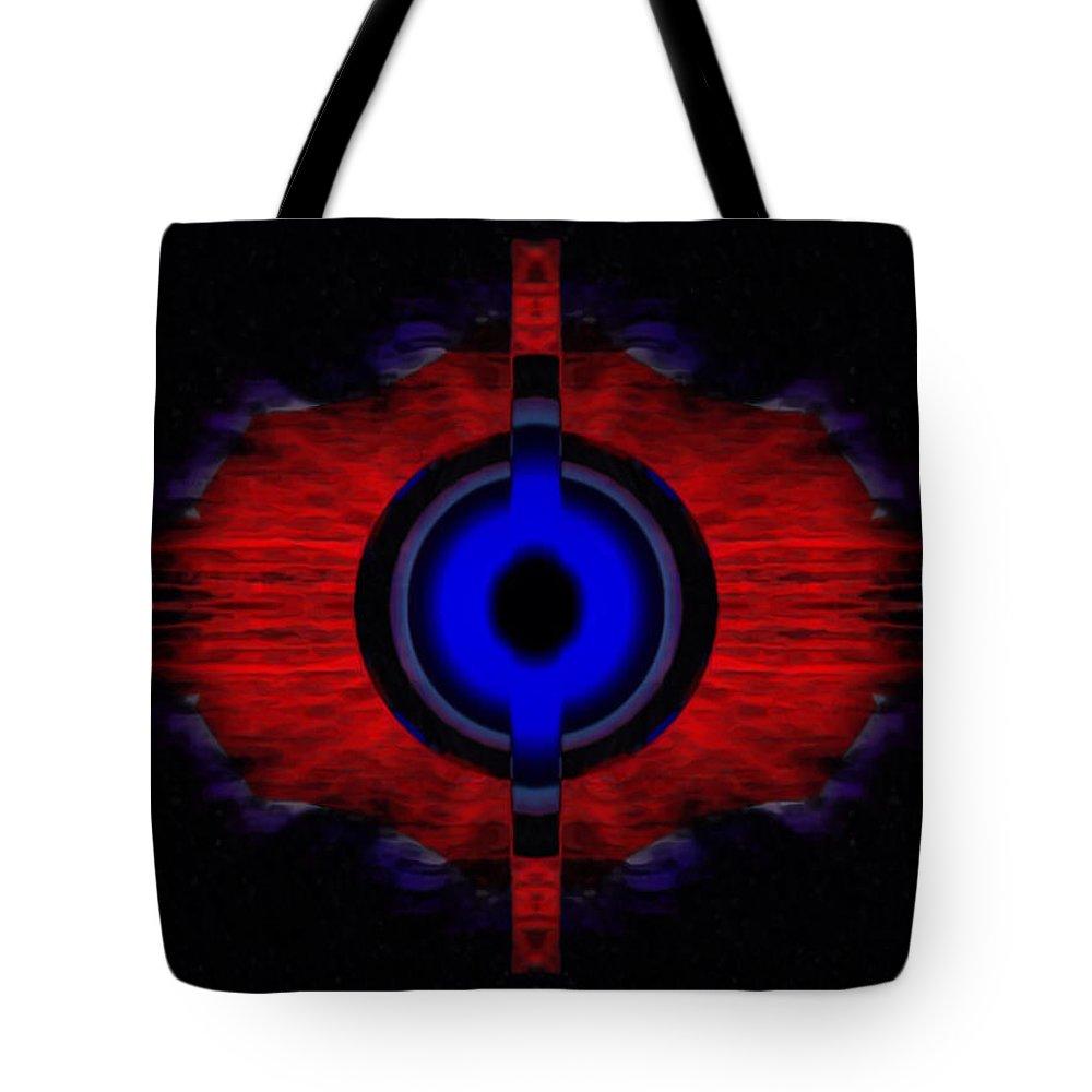 Angel Tote Bag featuring the digital art Hetris by Raymel Garcia