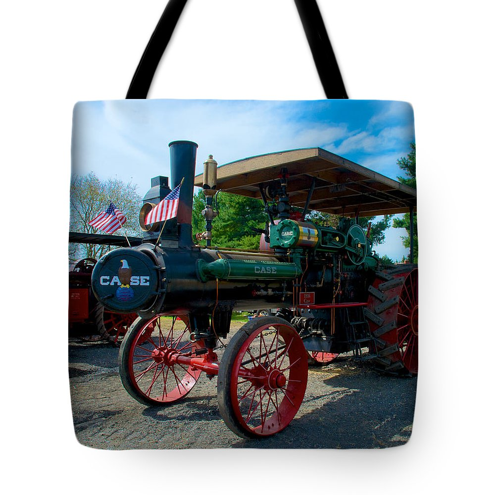 Arcadia Volunteer Fire Company Tote Bag featuring the photograph Hey Some One Close My Door by Mark Dodd