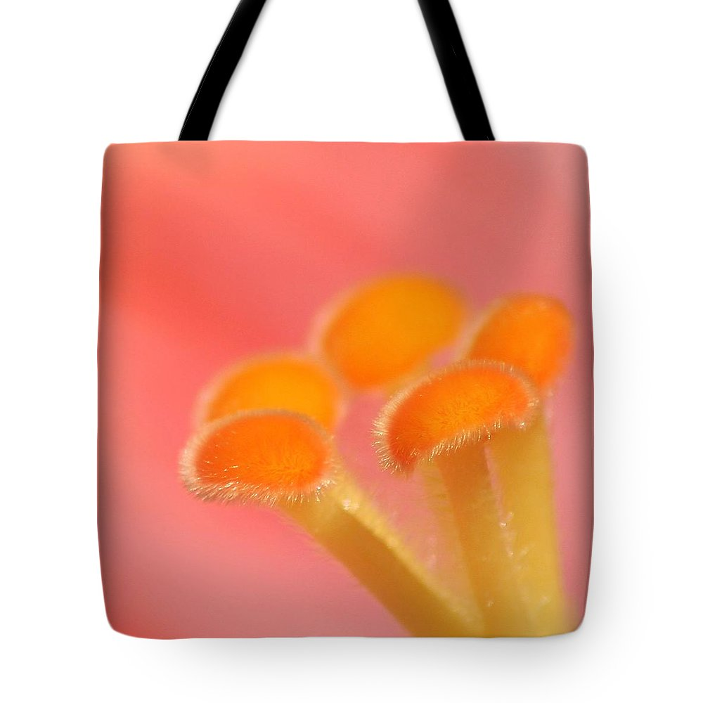 Macro Tote Bag featuring the photograph Hibiscus Center Macro by Chris Anderson