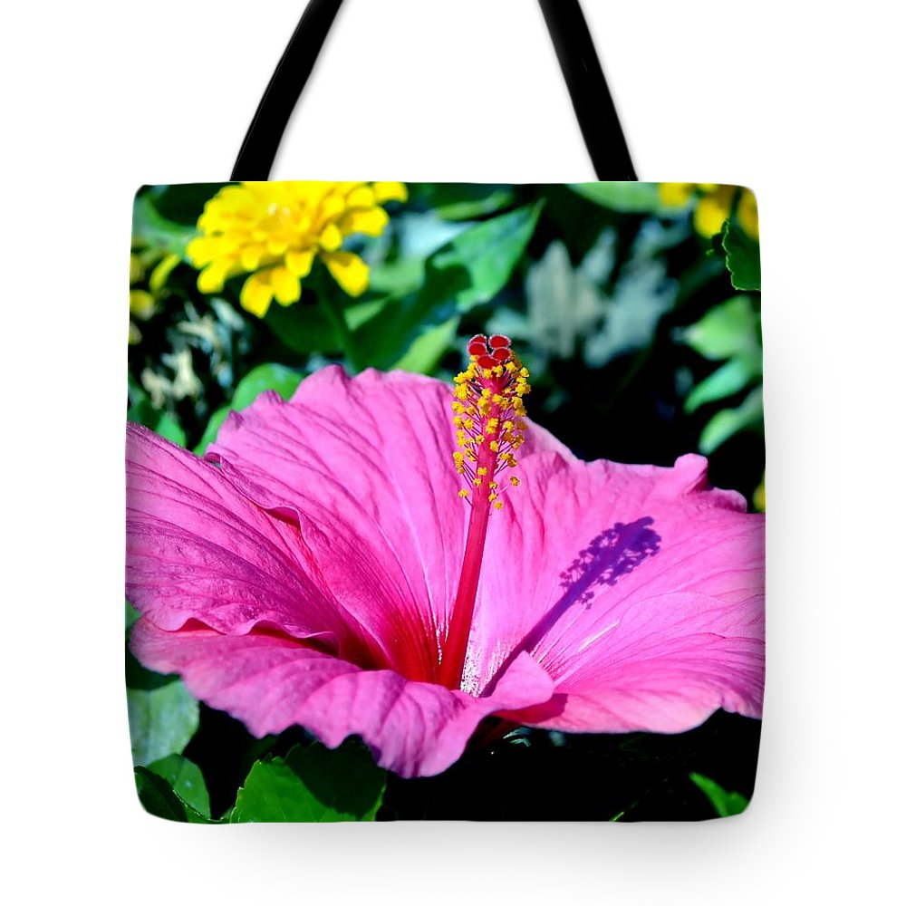 Hibiscus Tote Bag featuring the photograph Hibiscus by Deena Stoddard