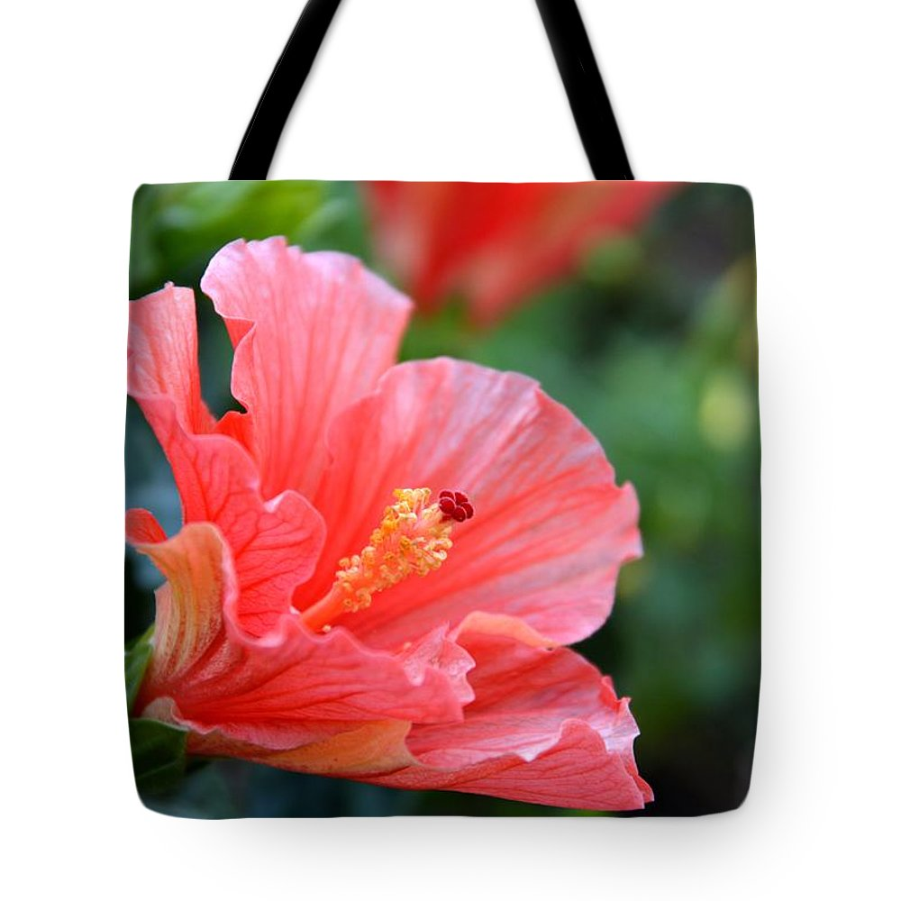 Hibiscus Tote Bag featuring the photograph Hibiscus Summer by Linda Bailey