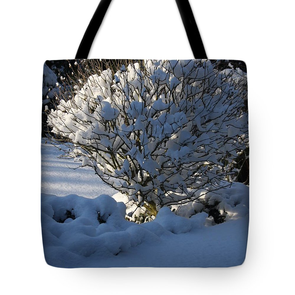 Winter Tote Bag featuring the photograph Hibiskus In The Wintertime by Christiane Schulze Art And Photography
