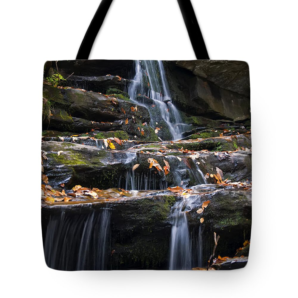 Waterfall Tote Bag featuring the photograph Hidden Falls 3 by Chris Flees