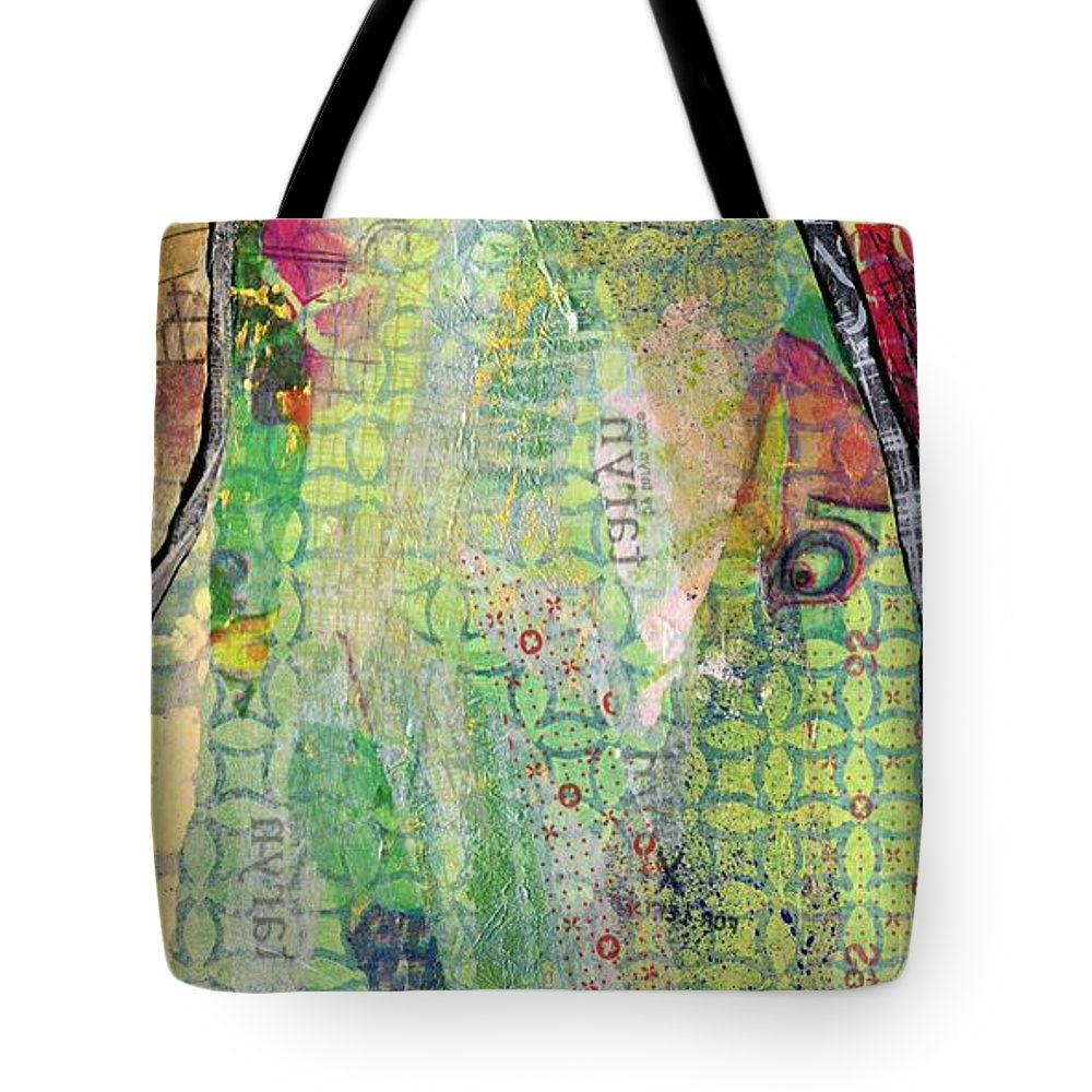 Tree Tote Bag featuring the painting Hidden Forests IIi by Shadia Derbyshire