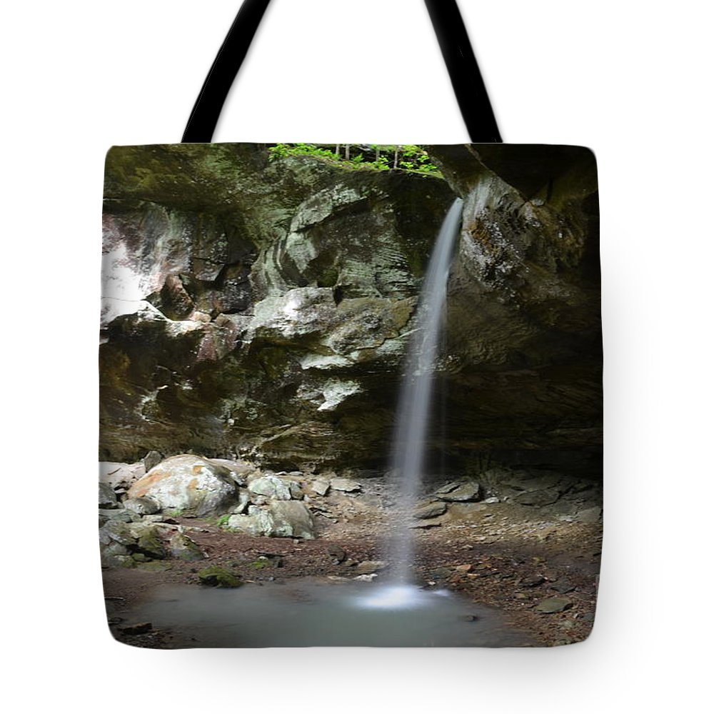 Waterfalls Tote Bag featuring the photograph Hidden Paradise by Deanna Cagle
