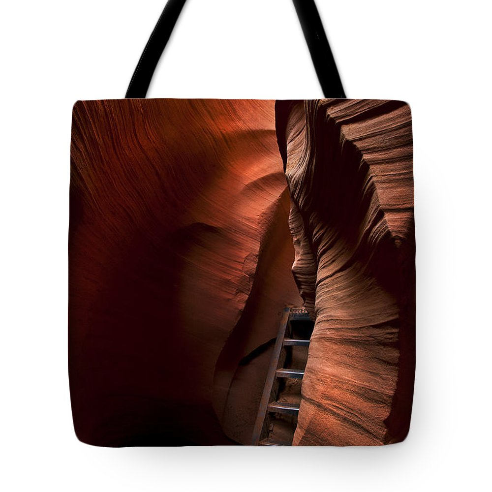 Stairs Tote Bag featuring the photograph Hidden Stairs by Mike Dawson