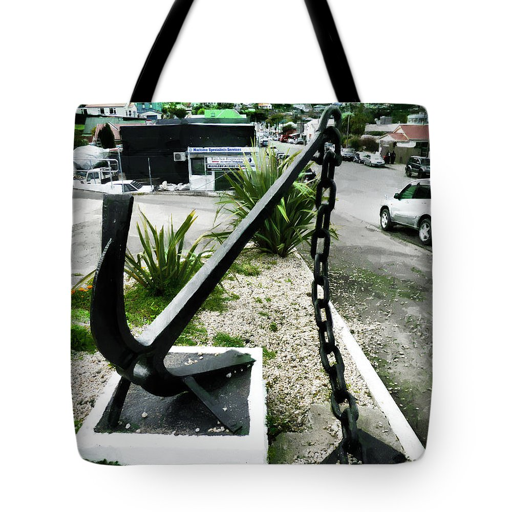 Anchor Tote Bag featuring the photograph High And Dry by Steve Taylor