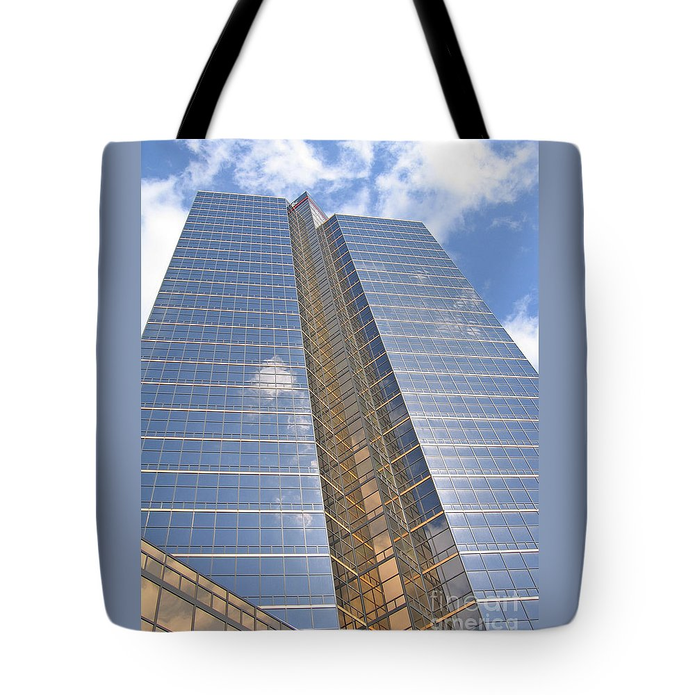 Skyscraper Tote Bag featuring the photograph High Aspirations by Ann Horn
