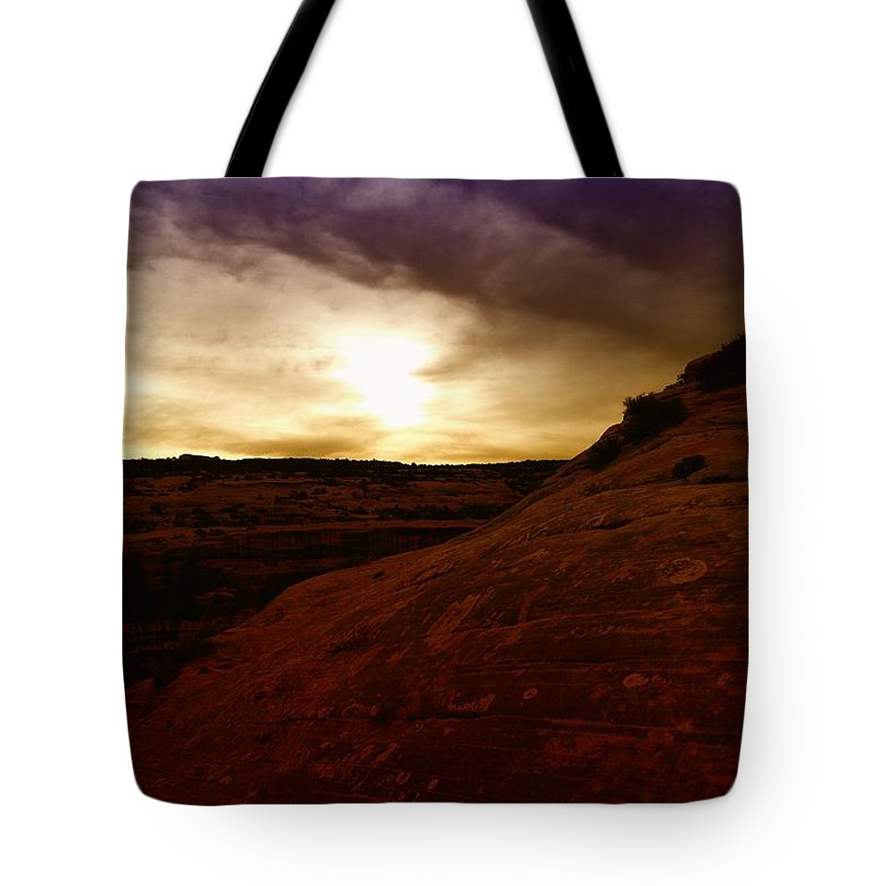 Desert Tote Bag featuring the photograph High Desert Clouds by Jeff Swan