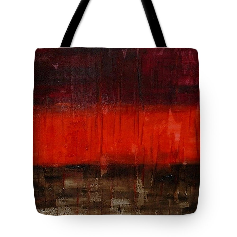 Modern Art Tote Bag featuring the painting High Energy by Silvana Abel