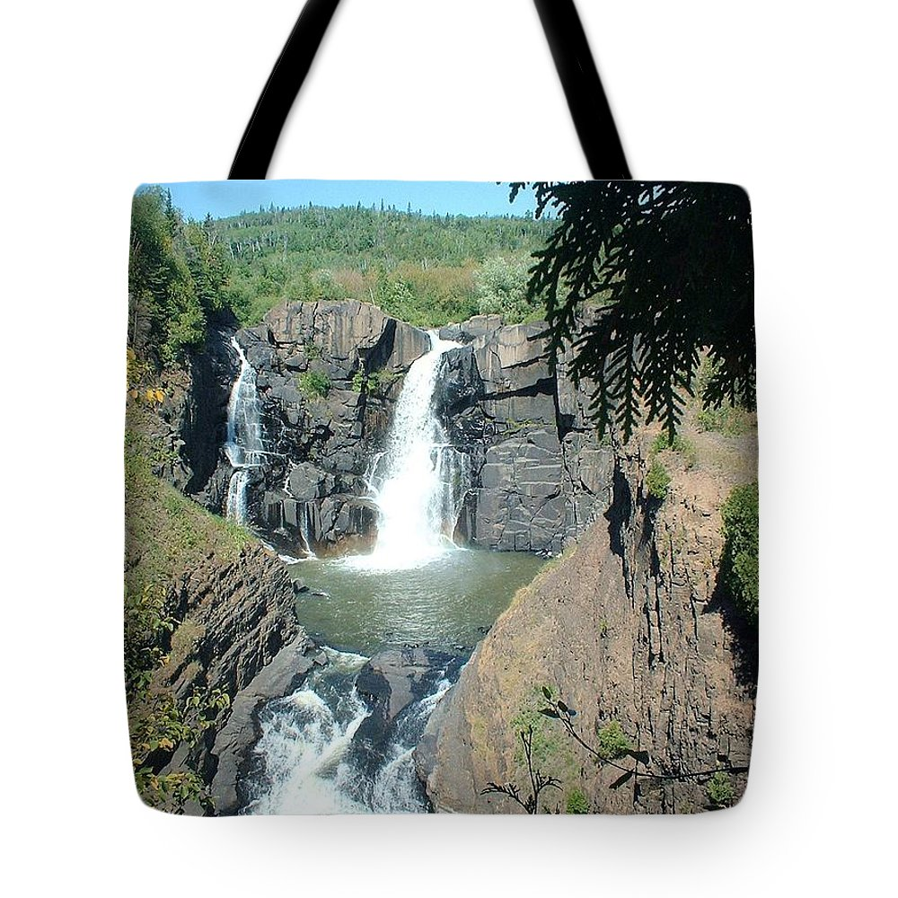 Falls Tote Bag featuring the photograph High Falls by Bonfire Photography
