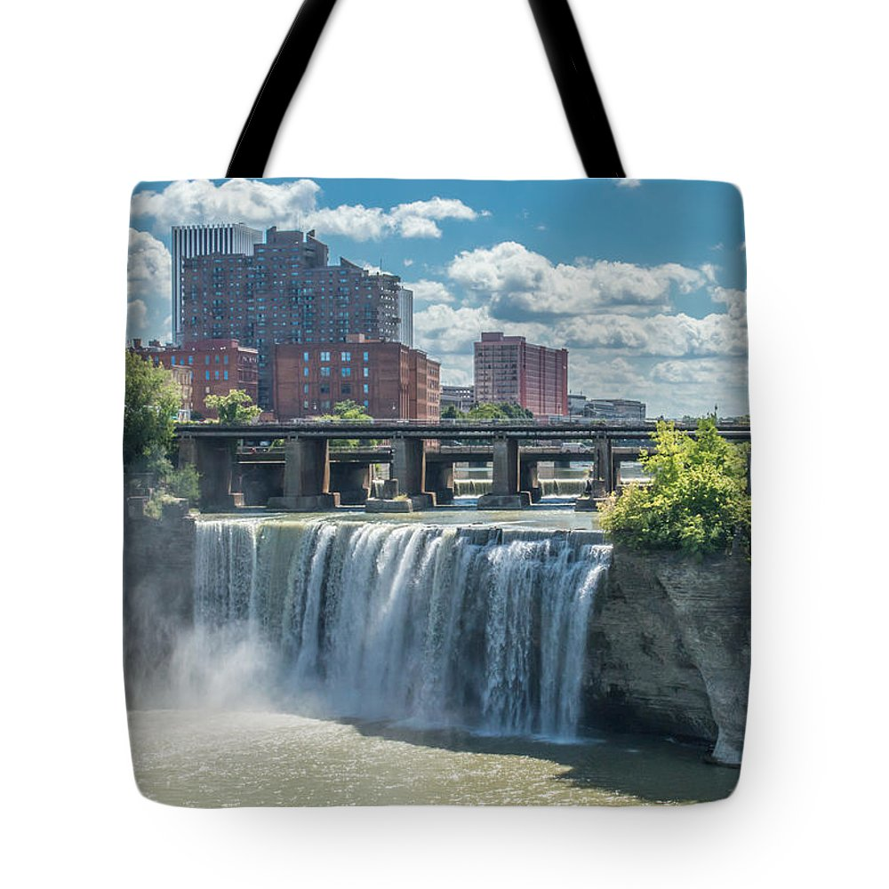 High Falls Tote Bag featuring the photograph High Falls by Ray Sheley