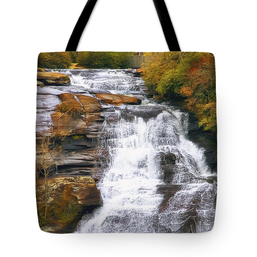 Water Tote Bag featuring the photograph High Falls by Scott Norris