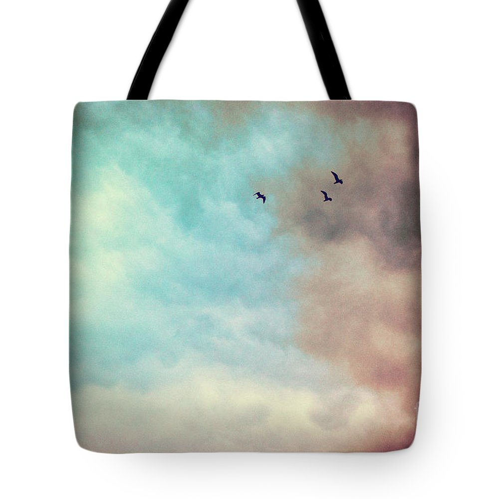 Birds Tote Bag featuring the photograph High In The Sky by Silvia Ganora