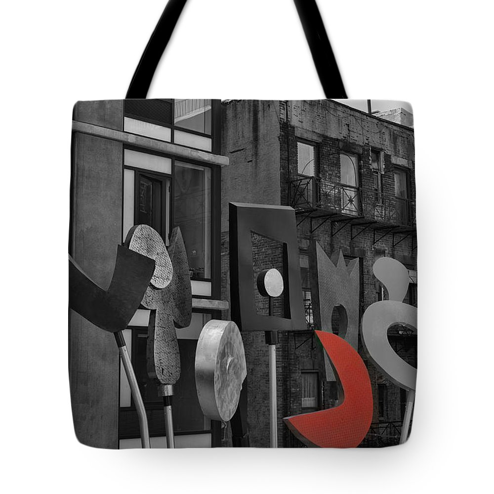 Evie Tote Bag featuring the photograph High Line Joy Black And White by Evie Carrier