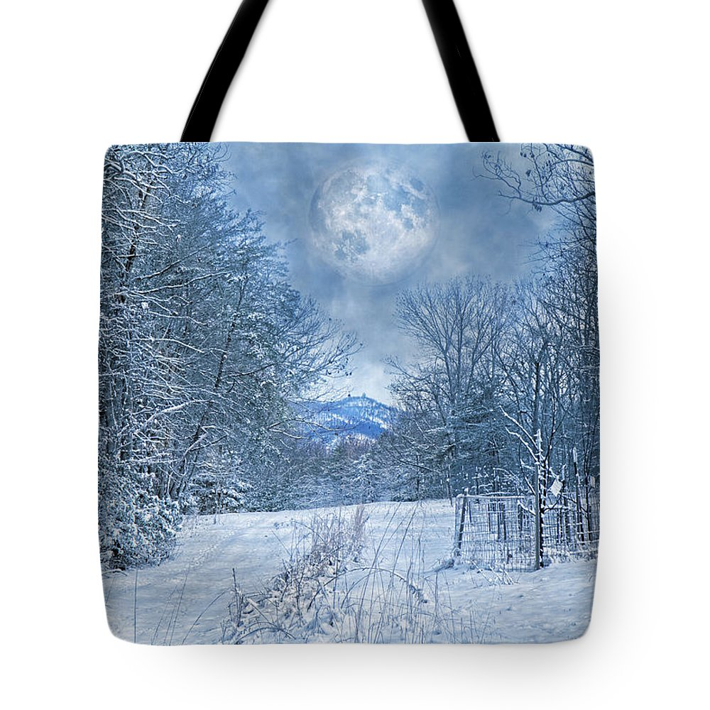 Winter Tote Bag featuring the photograph High Peak Mountain Snow by Betsy Knapp