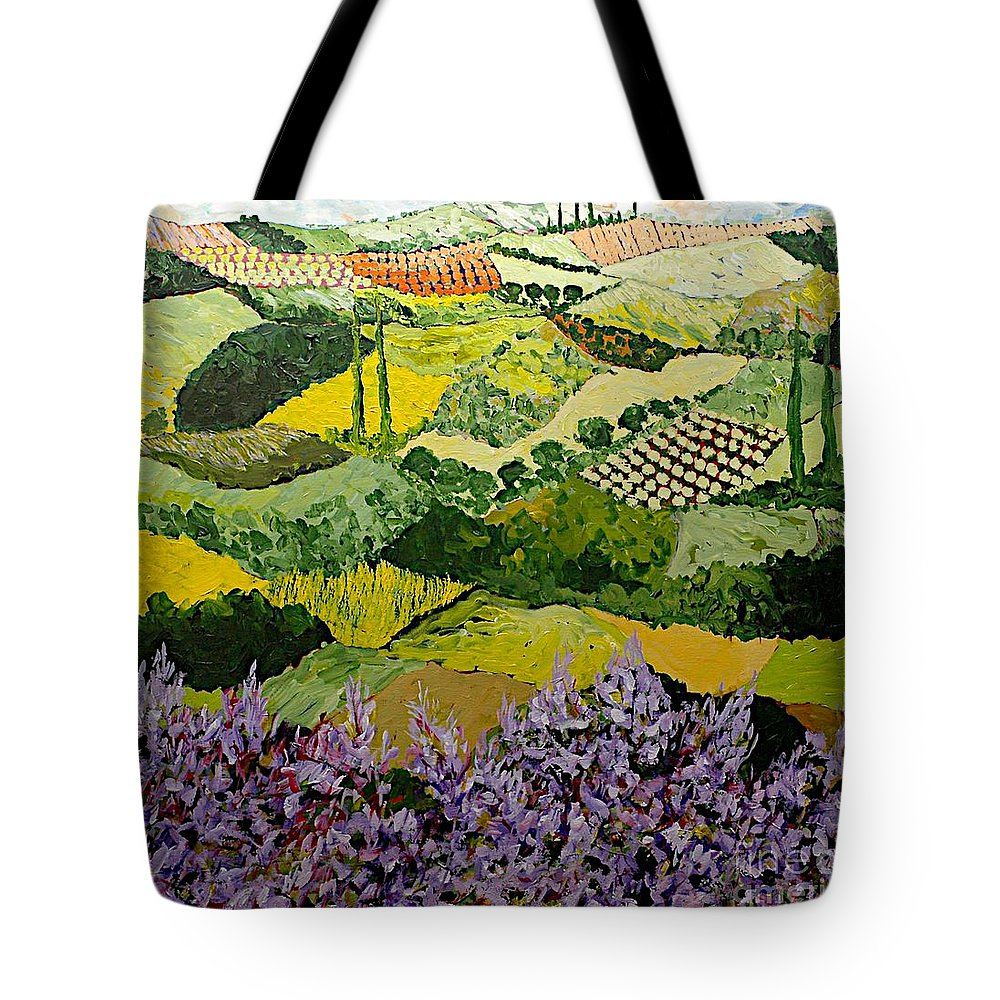 Landscape Tote Bag featuring the painting High Ridge by Allan P Friedlander