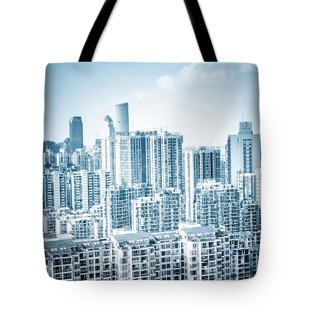 Residential District Tote Bag featuring the photograph High Rise Residential Area by Aaaaimages