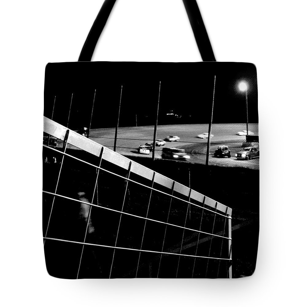Black And White Tote Bag featuring the photograph Highbanks Oklahoma by Robert Shinn
