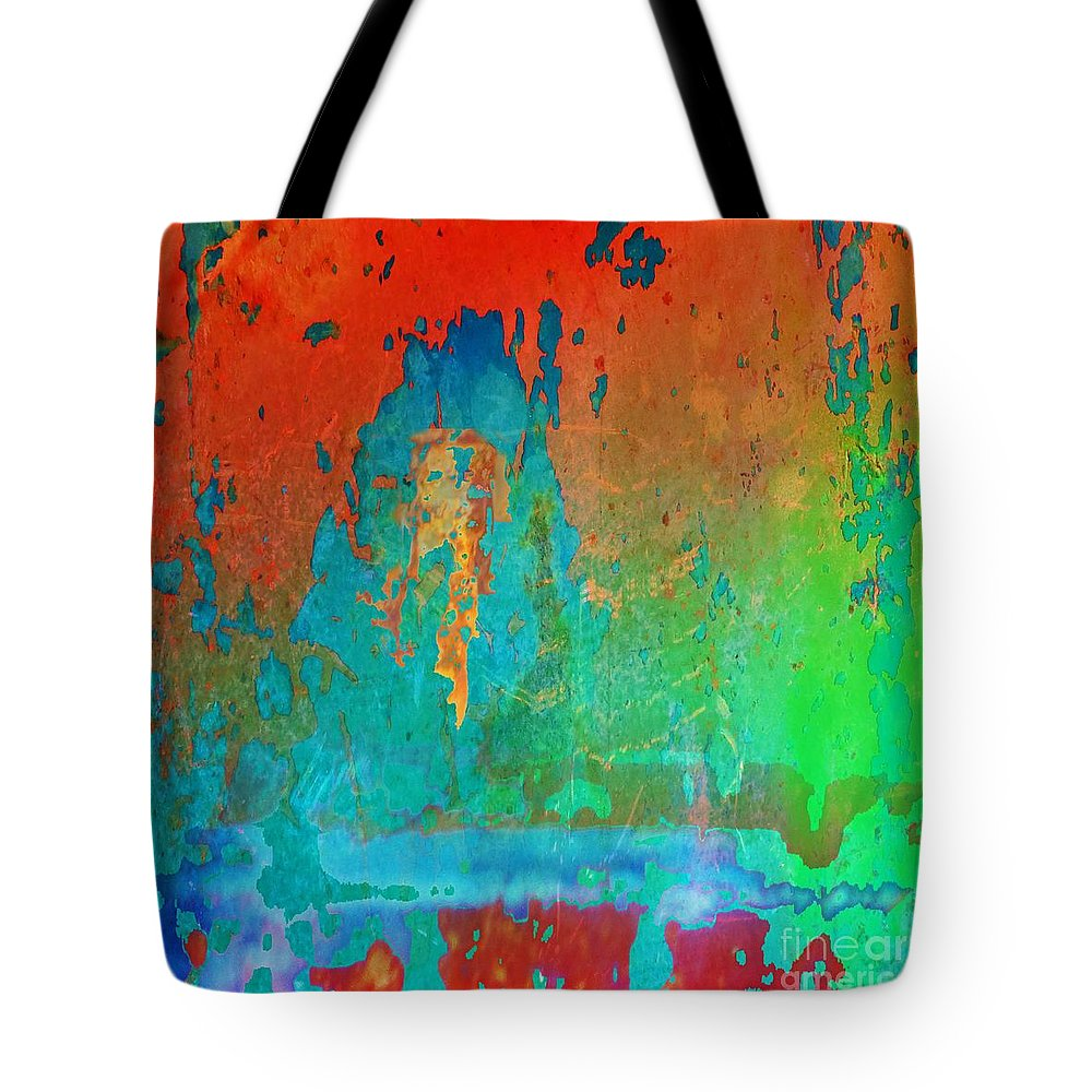 Contemporary Tote Bag featuring the painting Higher Vibe by Desiree Paquette