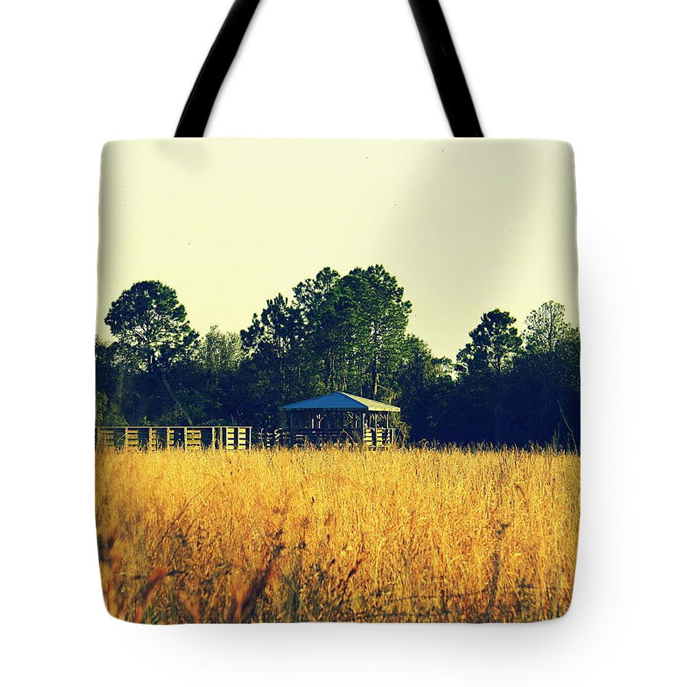 Highlands Hammock Tote Bag featuring the photograph Highland Hammock by Laurie Perry