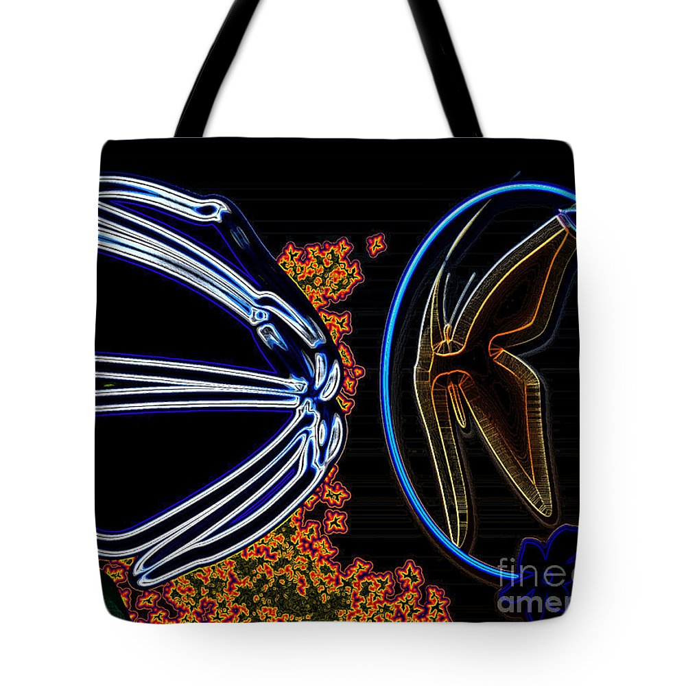 Flower Tote Bag featuring the photograph Highlighted by Donna Brown