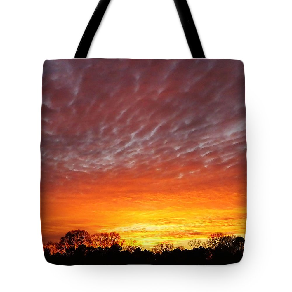 Sky Tote Bag featuring the photograph Highway 61 Sunset by Lizi Beard-Ward