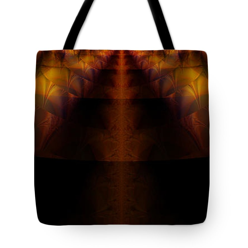 Fractal Art Tote Bag featuring the digital art Highway Less Traveled by Elizabeth McTaggart