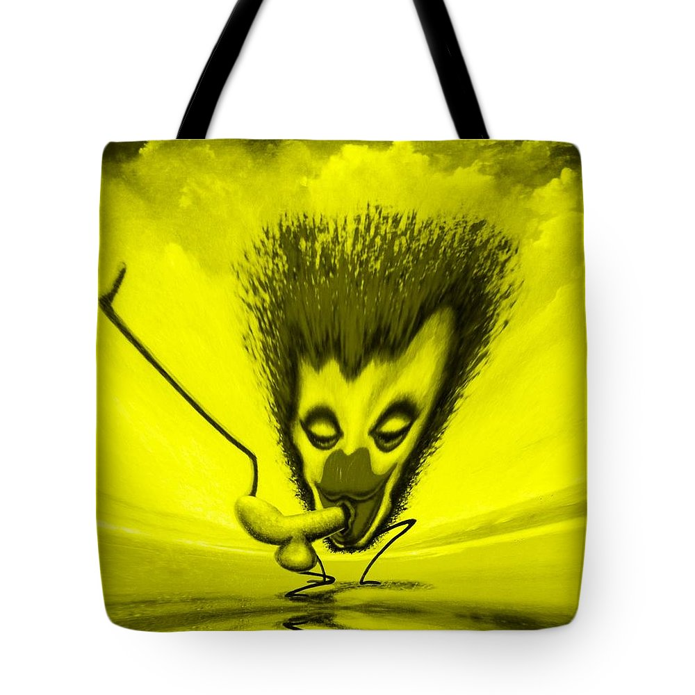 Genio Tote Bag featuring the mixed media Hilarious Get-together by Genio GgXpress