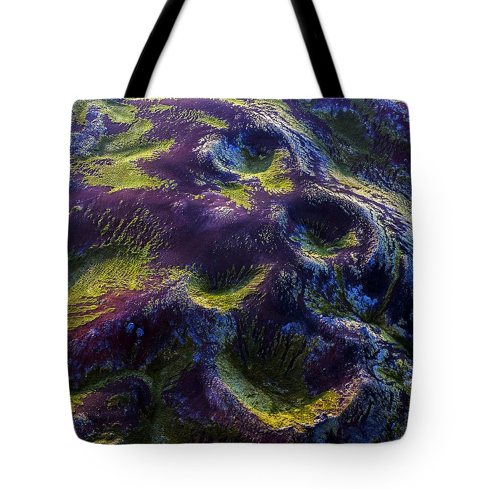 Abstract Photography Tote Bag featuring the photograph Hills by Gunnar Orn Arnason