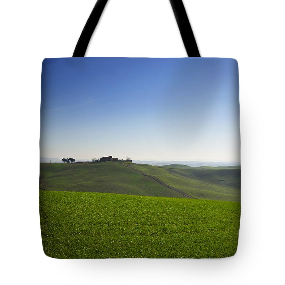Hill Tote Bag featuring the photograph Hills On The Field by Mats Silvan