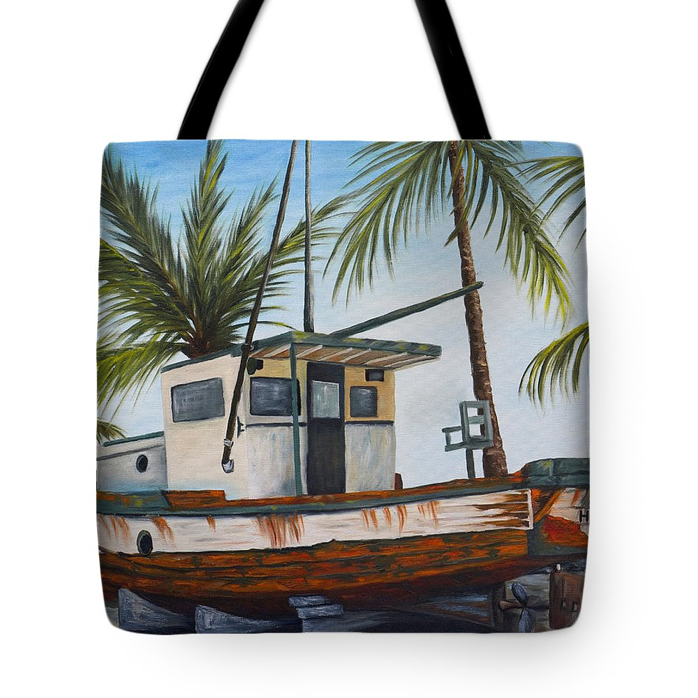 Hawaii Tote Bag featuring the painting Hilo Kale by Darice Machel McGuire