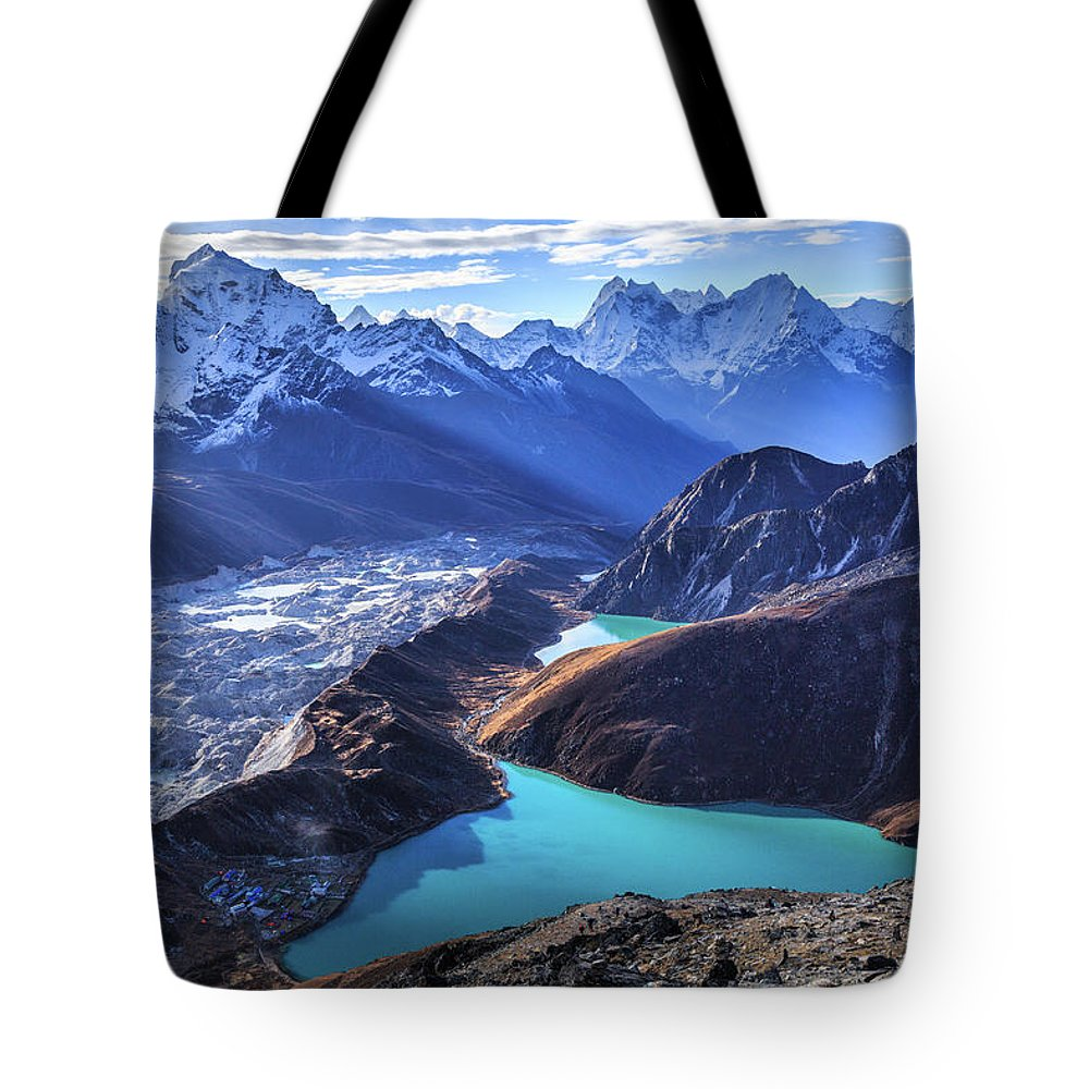 Tranquility Tote Bag featuring the photograph Himalaya Landscape, Gokyo Ri by Feng Wei Photography