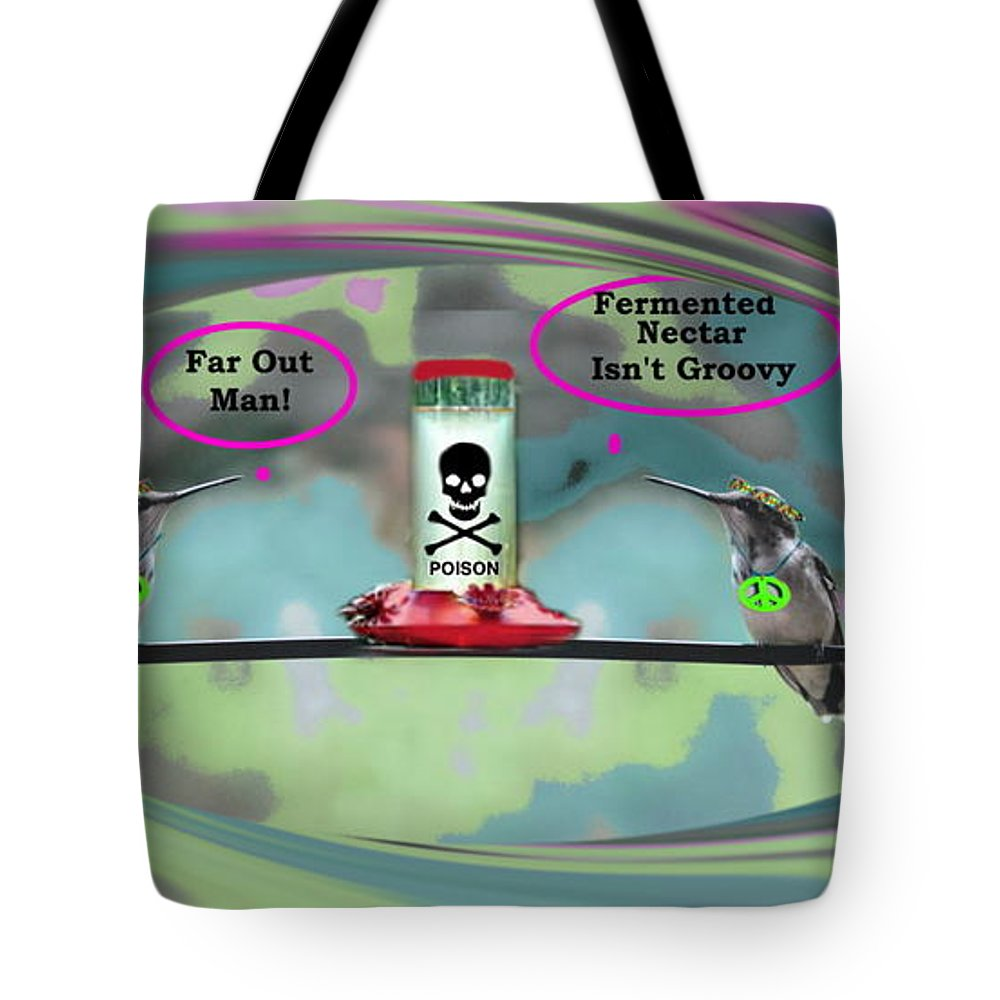 Art Tote Bag featuring the digital art Hippie Hummer by Diane V Bouse