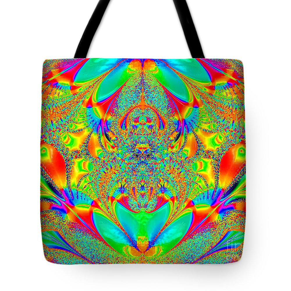 Hippies Unite Tote Bag featuring the digital art Hippies Unite by Keri West
