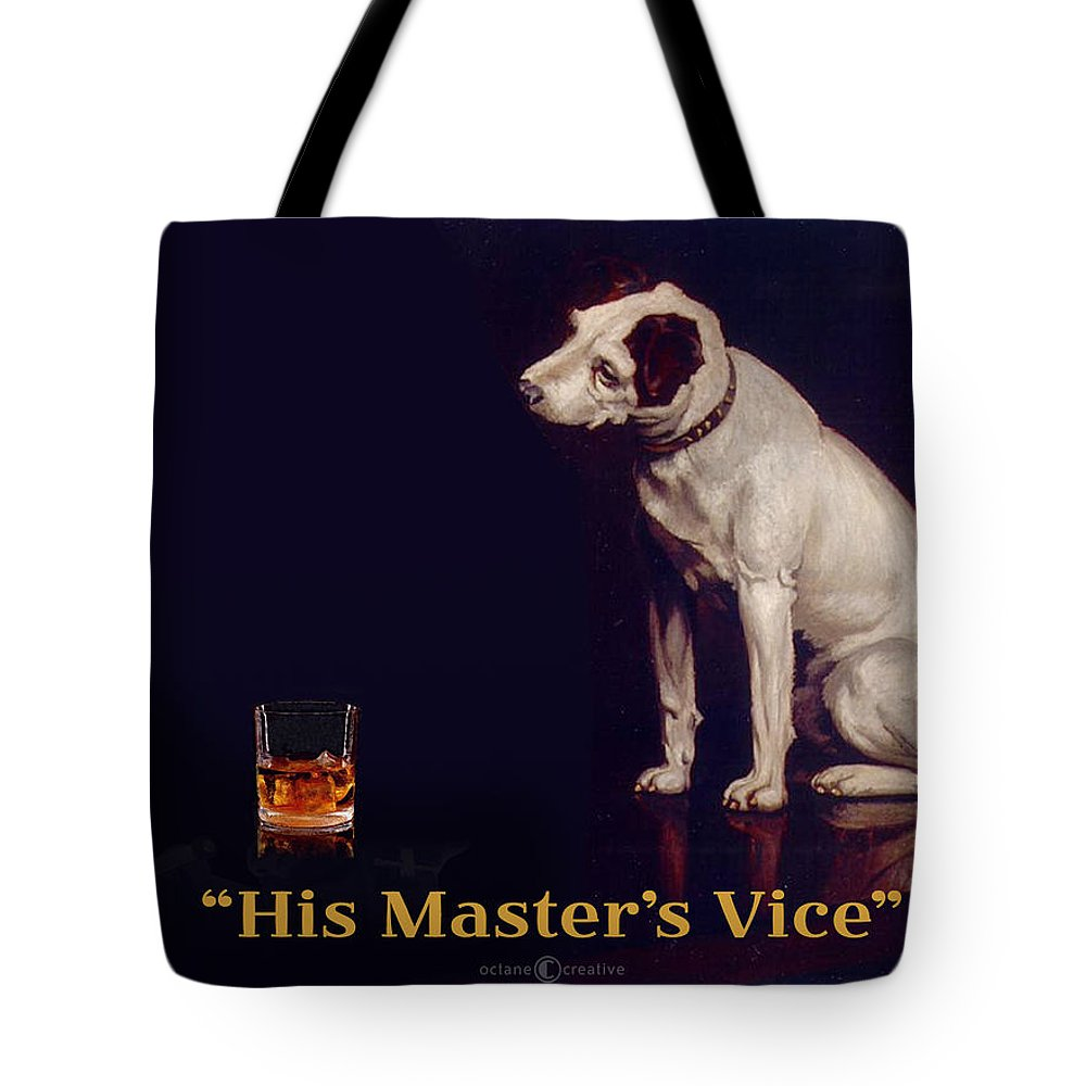 Parody Tote Bag featuring the digital art His Masters Vice by Tim Nyberg