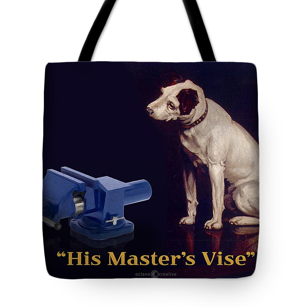 Parody Tote Bag featuring the painting His Master's Vise by Tim Nyberg