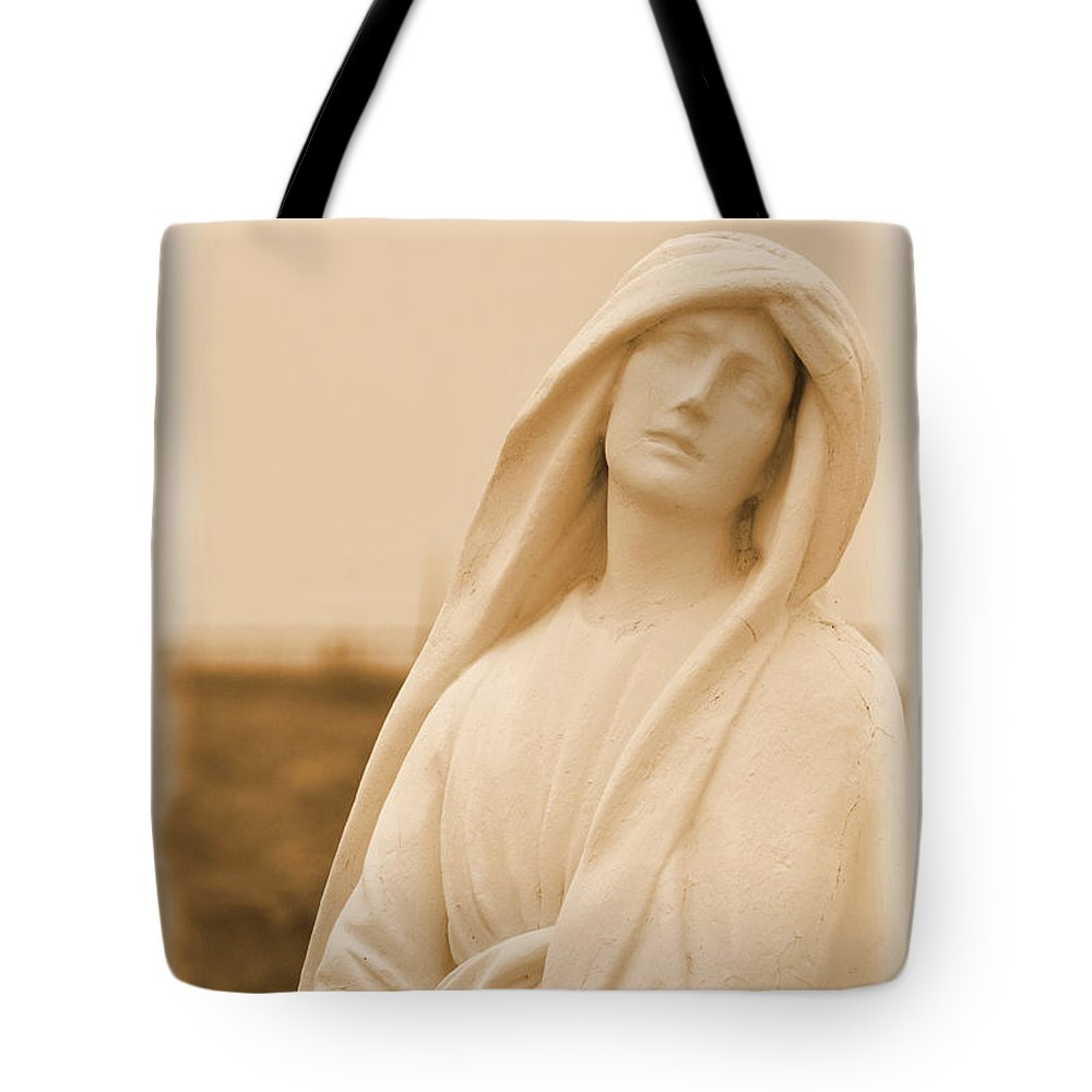 Angel Tote Bag featuring the photograph His Mother by Nadalyn Larsen