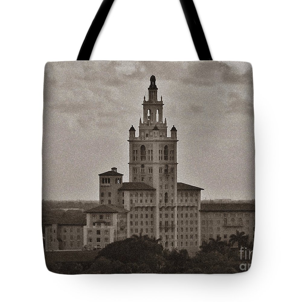 Miami Tote Bag featuring the photograph Historic Biltmore Hotel by Keri West