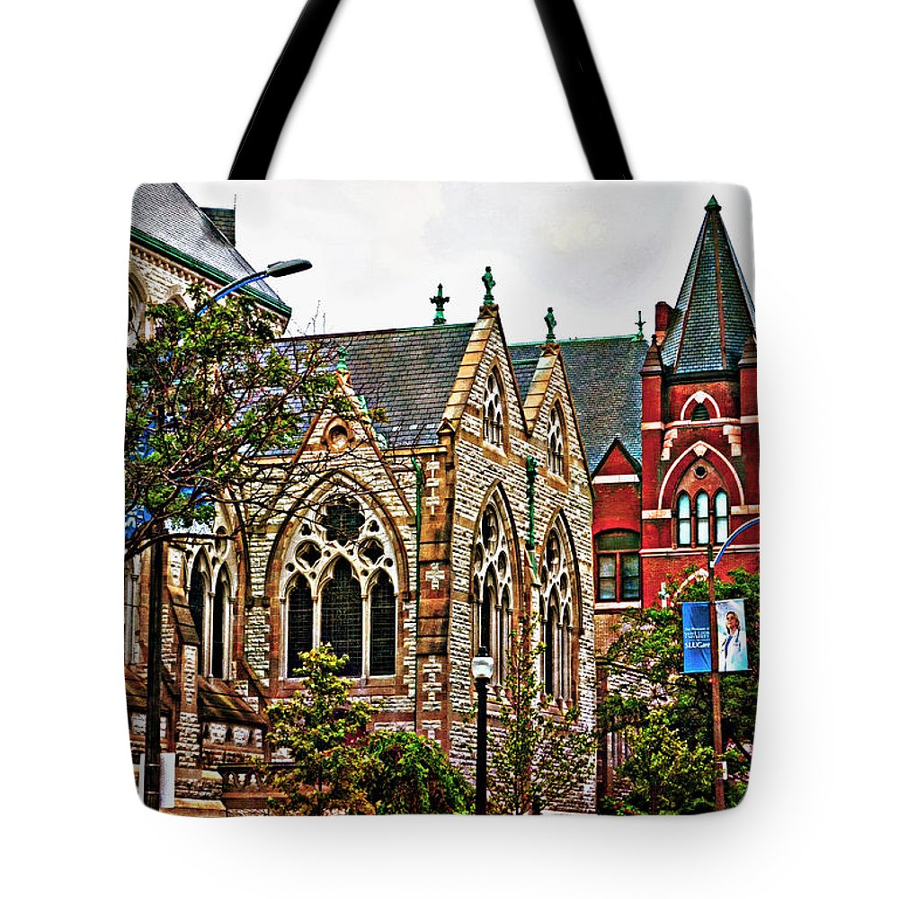Architecture Tote Bag featuring the photograph Historic Church St Louis Mo 2 by Debbie Portwood
